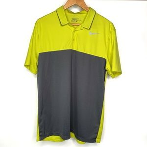 Nike Golf Polo Shirt Size Large Neon Green Yellow